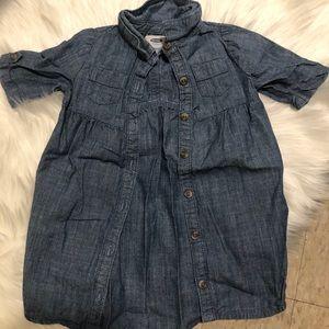 Old Navy denim button up dress 3T
